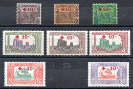 TUNISIE - YT N° 50 à 58 (sauf 57) - Neufs * - MH - Cote: 187,00 € - Unused Stamps