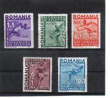 POL1075 RUMÄNIEN 1937 MICHL 538/42 Postfrisch Als (*) FALZ Berechnet SIEHE ABBILDUNG - 1918-1948 Ferdinand, Carol II. & Mihai I.