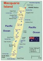 1 Map Of Macquarie Island - Australia * Landkarte Von Der Insel Macquarie - Seit 1997 UNESCO Weltnaturerbe - Maps