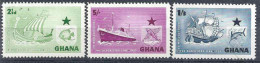 1957 GHANA 14-16** Compagnie Maritime, Bateaux, Poissons - Ghana (1957-...)
