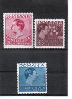 POL1077 RUMÄNIEN 1938 MICHL 549/51 (*) FALZ  SIEHE ABBILDUNG - 1918-1948 Ferdinand, Carol II. & Mihai I.
