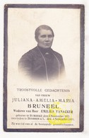 DP Foto - Juliana A. Bruneel ° Rumbeke Roeselare 1855 † Beveren Ad Leie Waregem 1918 X E. VanAcker - Images Religieuses