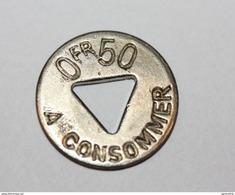 Monnaie De Nécessité 0.50 Fr à Consommer - Jeton De Bistrot Parisien - French Token - Monétaires / De Nécessité