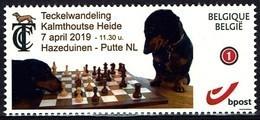 Schach Chess Ajedrez 2019 - Belgiien Belgie Belgium - Teckel Curiosa Club - Dackel - MiNr 4229 - Sellos Privados