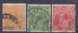 190031558  AUSTRALIA   YVERT   Nº  50A/52A - 1913-36 George V : Heads