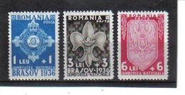 POL1065 RUMÄNIEN 1936 MICHL 516/18 (*) FALZ  SIEHE ABBILDUNG - 1918-1948 Ferdinand, Carol II. & Mihai I.