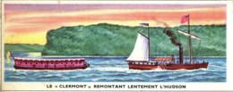"""Image 13x 5,3 : Le """"Clermont"""" Remontant Lentement L""""Hudson - Old Paper"""