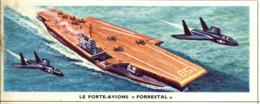 """Image 13x 5,3 : Le Porte-avion """"Forrestal"""" - Old Paper"""