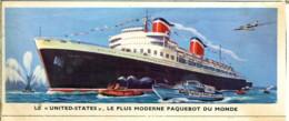 """Image 13x 5,3 : Le """"United States"""" Le Plus Moderne Des Paquebot Du Monde - Old Paper"""