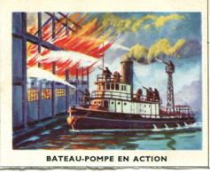 Image 6,8 X 5,3 : Bateau-pompe En Action - Vieux Papiers