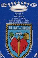 """Carte Postale / écusson Adhésif """" AILLANT SUR THOLON """" - Aillant Sur Tholon"""