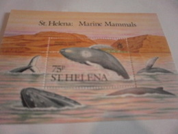 Miniature Sheet Perf Humpback Whale St Helena Marine Mammals - Stamps