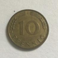 "GERMANIA - DEUTSCHLAND - 1949 - 10  PFENNIG "" D"" - [ 7] 1949-… : RFA - Rep. Fed. Tedesca"