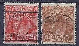 190031561  AUSTRALIA   YVERT   Nº  73/4 - 1913-36 George V : Heads