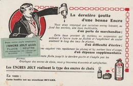 BUVARD - PUB - ENCRES JOLY - Buvards, Protège-cahiers Illustrés