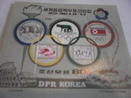 Miniature Sheet Perf Olymphilex Rome - Korea, North