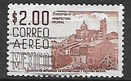 MEXIQUE    -   Aéro   -   Architecture Coloniale, Oblitéré - Mexique
