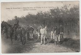 CAMP DE BRASSCHAET - POLYGONE - Dans Les Bois , Au Champ De Tir Au Travail, Arrêtez  L'incendie - Casernes