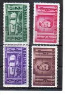 POL1068 RUMÄNIEN 1937 MICHL 524/27 (*) FALZ  SIEHE ABBILDUNG - 1918-1948 Ferdinand, Carol II. & Mihai I.