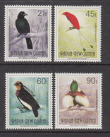 1992 Papua New Guinea  Birds Of Paradise Part II Definitives   Complete Set Of 4 MNH - Papua New Guinea