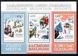 Georgie Georgia 2016 Mountain Resorts Stations De Ski Block MNH** - Georgia