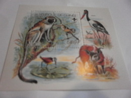 Miniature Sheet Perf Wildlife And Scout Anniversary - Guinea (1958-...)