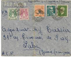 GUINEE 1945-lettre En F.M. De ST PONS (hérault) Surtaxe Aérienne 6 F (5 Timbres) Pour LABE  .A.O.F.  2scans - Marcophilie (Lettres)