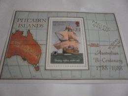 Miniature Sheet Perf Bounty Replica Under Sail Australia Bi-centenary 1988 - Pitcairn Islands