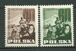 POLAND MNH ** 821-822 Course Motocycliste Internationale à Zakopane, Moto, Sport - 1944-.... Republic