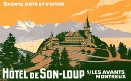 @@@ MAGNET - Hôtel De Son-Loup Sur Les Avants - Publicitaires