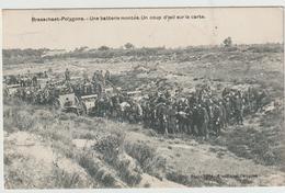 CAMP DE BRASSCHAET - POLYGONE - Une Baterie Montée, Un Coup D'œil Sur La Carte - Casernes