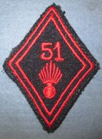 Losange De Bras  51° Régiment D'Infanterie - Armée De Terre