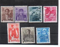 POL1064 RUMÄNIEN 1936 MICHL 509/15 (*) FALZ  SIEHE ABBILDUNG - 1918-1948 Ferdinand, Carol II. & Mihai I.