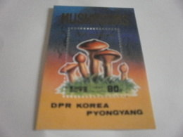 Miniature Sheet Perf 1987 Mushrooms - Korea, North