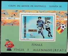REP. CENTROAFRICANA - 1982 Football World Cup Espana 82 Serie Cpl. 1BF  Nuovo** Perfetti - Zentralafrik. Republik