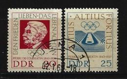 DDR - Komplettsatz Mi-Nr. 939 - 940 - 100. Geburtstag Baron Pierre De Coubertin Gestempelt - [6] République Démocratique