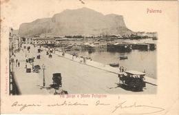 (C).Palermo.Via Borgo E Monte Pellegrino.F.to Piccolo.Viaggiata (c17) - Palermo