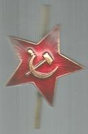 Unione Sovietica, Falce E Martello Oro Su Stella Rossa, Mist. Smaltata, Cm. 3. - Gettoni E Medaglie