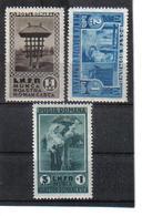 POL1058 RUMÄNIEN 1934 MICHL 465/67 (*) FALZ  SIEHE ABBILDUNG - 1918-1948 Ferdinand, Carol II. & Mihai I.