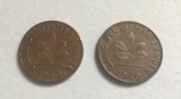 GERMANIA FEDERALE - 1949 - 2 Monete 1 PFENNIG  D , Ottime - [ 6] 1949-1990 : RDA - Rep. Dem. Tedesca