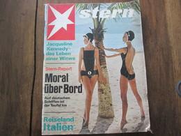 MAGAZINE STERN MARZ 1967   N 12 JACQUELINE KENNEDY DAS LEBEN EINER WITWE MORAL UBER BORD REISELAND ITALIEN - Voyage & Divertissement