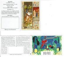 CALENDRIER Du ZODIAQUE BALANCE De 1992 Et 1996  -  Lot De 2 Calendriers - VOIR SCANS - Calendars