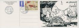 CPM 28 - Illiers Combray - 11ème Salon De La Carte Postale - 1996 - Du Dinosaure à L'homme - Carte Double - Illiers-Combray