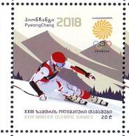 Georgie Georgia 2018 Winter Olympic Games Jeux Olympiques D'hiver  MNH** - Georgia