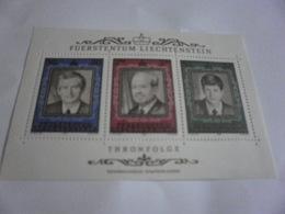 Miniature Sheet Perf Principality. Succession Liechenstein - Liechtenstein