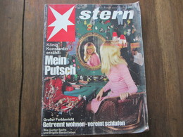 MAGAZINE STERN JANUAR  1968   N 3 KONIG KONSTANTIN MEIN PUTSCH WIE GUNTER SACHS UND BRIGITTE BARDOT LEBEN - Voyage & Divertissement