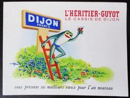 CALENDRIER 1954 L HERITIER GUYOT LE CASSIS DE DIJON FRANCE GRENOUILLE ECHELLE VENDANGES AU CHATEAU DU CLOS VOUGEOT - Calendriers