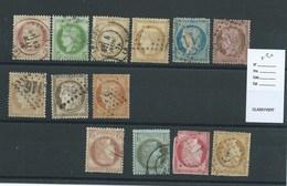 FRANCE CLASSIQUE - Petit Lot De CERES.  Cote :  + 50€. Casse Non Comptée. - 1871-1875 Ceres