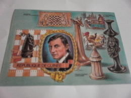 Miniature Sheet Perf Chess - Guinea (1958-...)