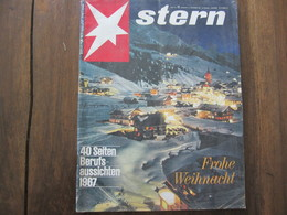MAGAZINE STERN DEZEMBER  1966   N 52 FROHE WEIHNACHT 40 SEITEN BERUFS AUSSICHTEN 1967 - Voyage & Divertissement
